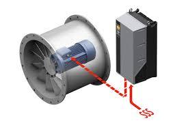 یکی از موارد استفاده از درایو های کنترل دور و اینورترها ، راه اندازی فن ها و کمپرسورها می باشد به این دلیل که بتوانند میزان دبی خروجی هوا را به طور دقیق کنترل کنند از اینورتر فن استفاده می کنند.